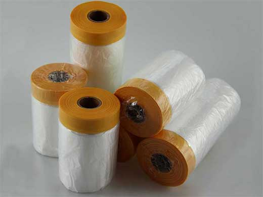 Indoor Used Pre-taped Masking Film