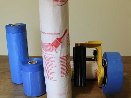 Blue paper Pre-taped Masking Film