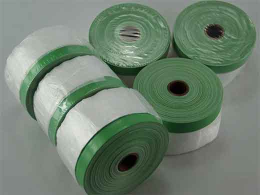 Pre-taped Masking Film With 70mesh cloth masking tape
