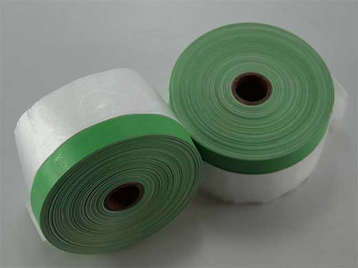 Pre-taped Masking Film With cloth masking tape